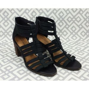 Lucky Brand Lp Kyndrah Leather Cage Heels Sandals